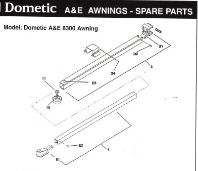 Dometic 8300 Awning
